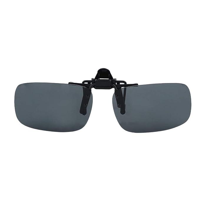 Funnyrunstore Driving Night Vision Clip-on gafas de sol con lentes abatibles Cool Eyewear Clip en lentes Anti-UV 400 Unisex para mujeres y hombres ...