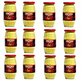 Amora Extra Strong French Dijon Mustard (L'Extra Forte Moutarde de Dijon), 440g (15.5oz) Jars (12-PACK)