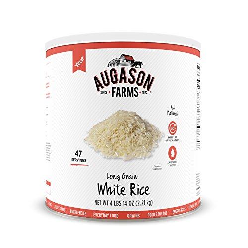 (Augason Farms Long Grain White Rice 4 lbs 14 oz No. 10 Can )