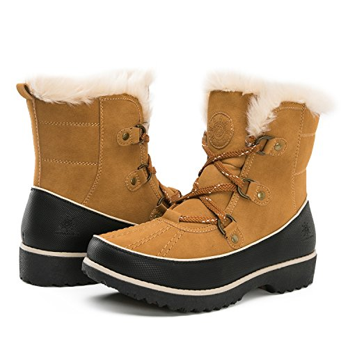 Global Win Women's 1728 Winter Boots (9 (M) US Women's, 1728Camel)