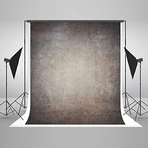 5ft(W) x7ft(H) Gray Canvas Portrait Photo Backdrop Muslin Studio Abstract Grunge Background Old Paper Photo Studio Booth Props for Photography Seamless Free Wrinkles