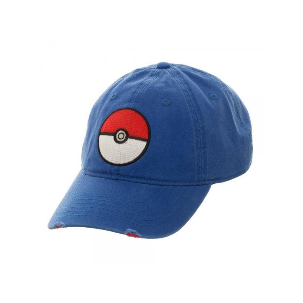 c3919decaa3 Amazon.com  Superheroes Brand Pokemon Pokeball Blue Adjustable Hat Cap   Clothing