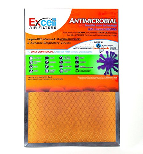 Electrostatic Furnace Filter Review (Air Filter - Antimicrobial / Tackifier Orange Filter - The ONLY Commercial Grade Air Filter for Home and Residential Use - Measures 16x20x1)