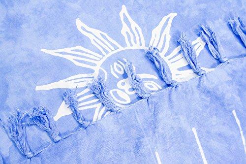 e per Blu sarong Chiaro foulard motivi Sole taglia e a gonna ManuMar telo 155x115cm leggero trasparente mare portafoglio forte XXL donna colori spiaggia pareo non da 225x115cm telo sfrangiato sauna SUfxwZqdp