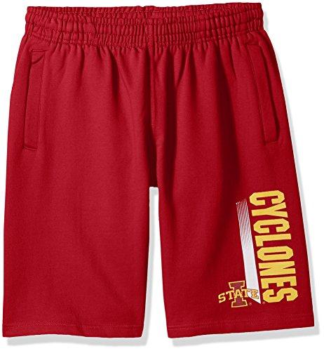 Iowa State Mens Shorts - NCAA Iowa State Cyclones CVC Fleece Shorts, Crimson, Large