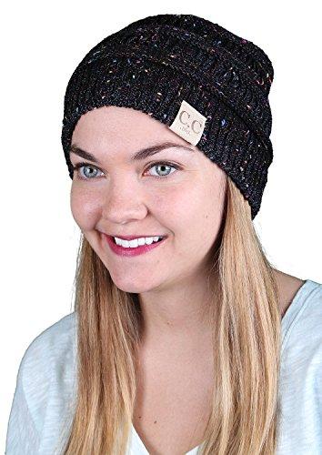 H-365-806 All Season Beanie - Black (Funky Knit Beanie Hat)