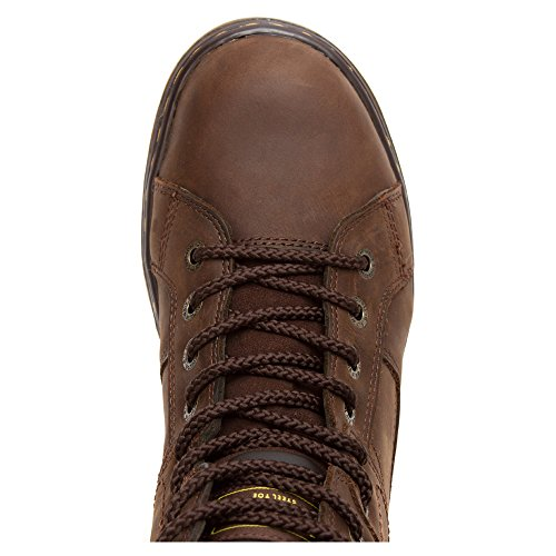 Dr Toe Dark Men's Martens Lace 8 Duct Toe Steel Eye Brown Boot To ggH0rT