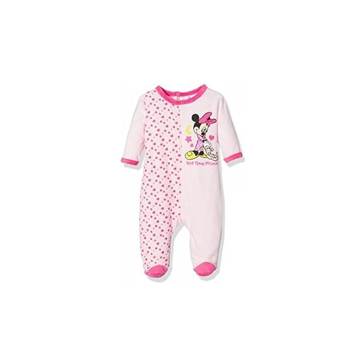6955bcac7 Minnie - Pijama para terciopelo - bebé niña Rose 3 mes : Amazon.es: Ropa y  accesorios