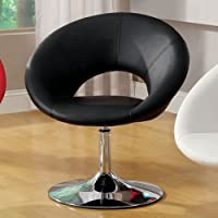 247SHOPATHOME IDF-AC6915BK Living-Room-Chairs, Black