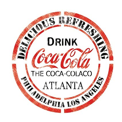 J BOUTIQUE STENCILS DRINK CocaCola Stencil Template for Crafting Wall  graffiti art DIY decor