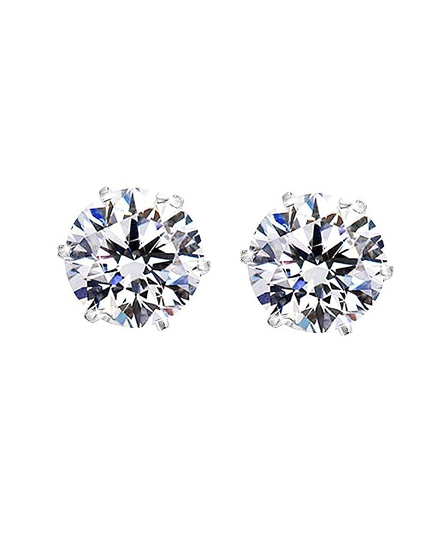 Amazon: Round Cut Clear Cz Stainless Steel Men Magnetic Stud Earrings  No Piercing 7mm: Men S Magnetic Earrings: Jewelry