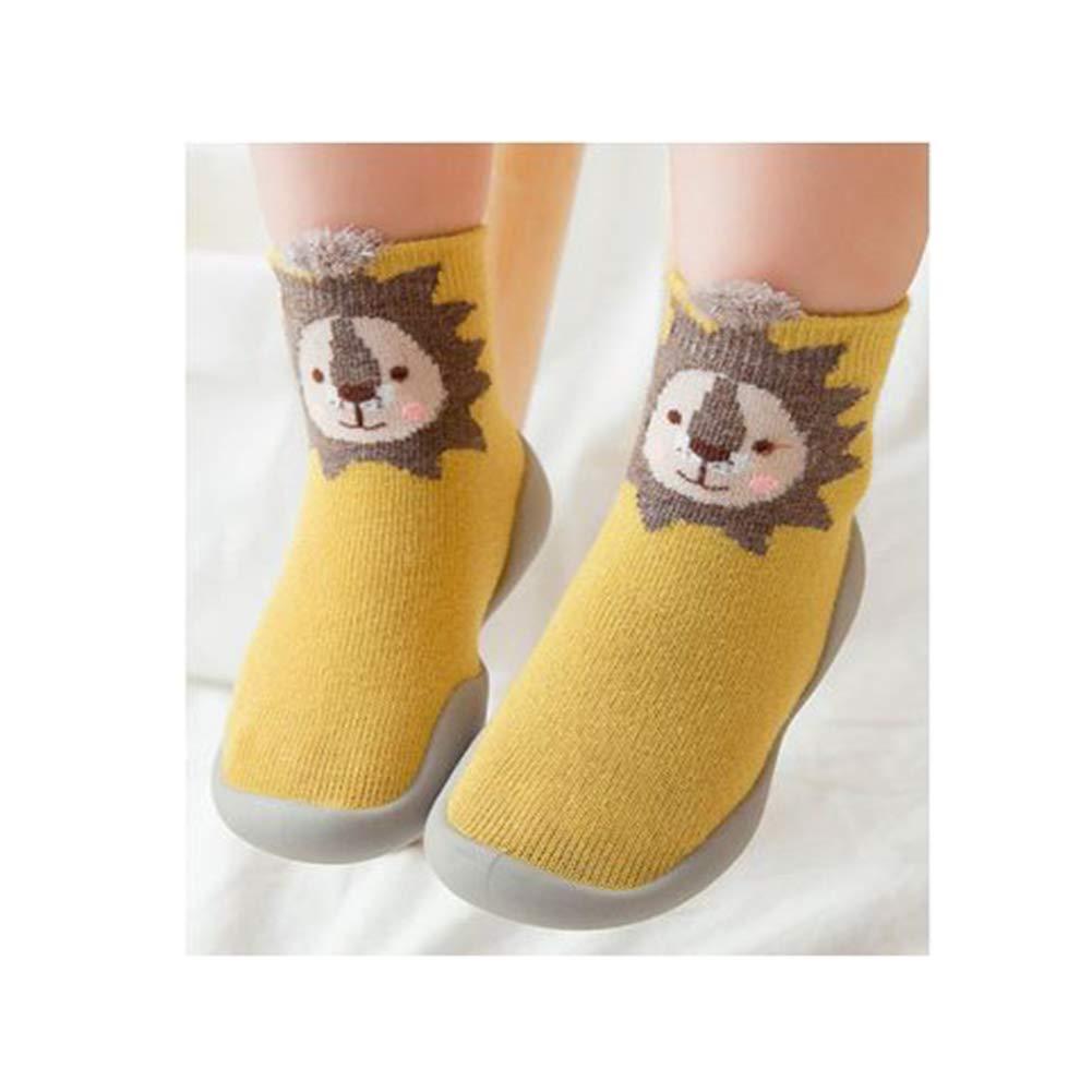 3 Pack Of Cartoon Cute Warm Baby Toddler Anti Slip Skid Grip Floor Socks Slipper Cotton Prewalker