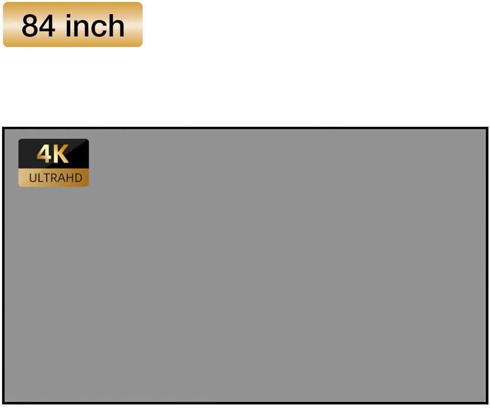 /Écran De Films De Projection Portable pour Les Films Vid/éo Dext/érieur De Cin/éma Maison /Écran De Projection Pliable Anti-froissement HD 4K 3D 4 3 warmheart /Écran De Projection 60//72//84//100 Pouces