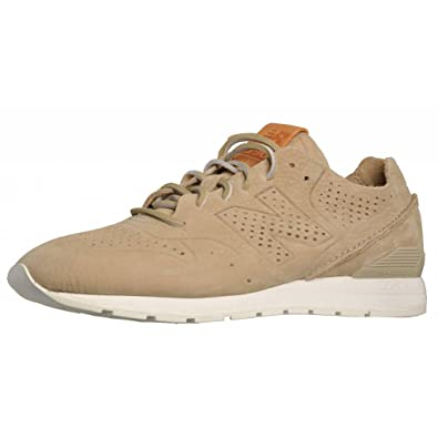new balance 996 beige raw suede trainers