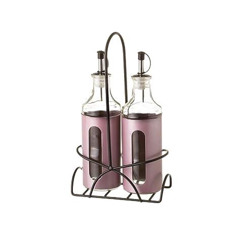 Aceitera y vinagrera de Acero Inoxidable Lilas Modernas para ...