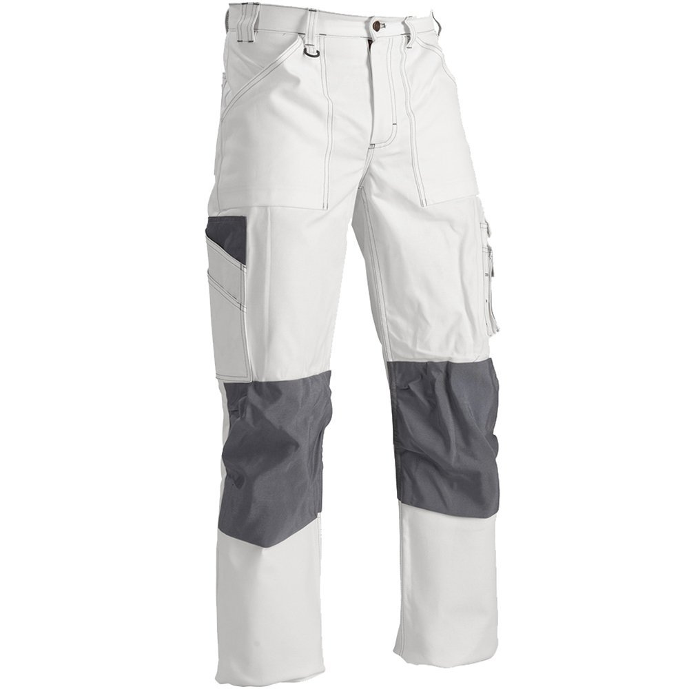 109112101000C52 Trousers''Paint'' Size 36/32 (Metric Size C52) IN White