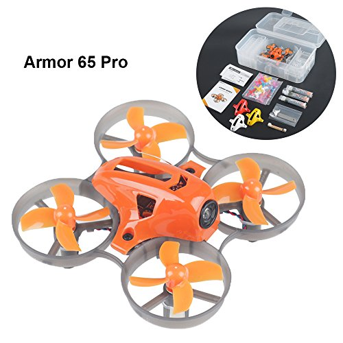 Motor Brush Racing (Makerfire Armor 65 Pro Micro Racing FPV Quadcopter With 716 Brushed Motors Based on F3 Brush Flight Controller BNF w/1S Charger Case 5.8G 25mw FPV Camera)