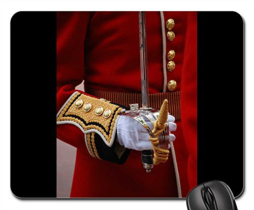 Mouse Pads - Uniform Ceremonial Red Arm Sword Glove Tradition