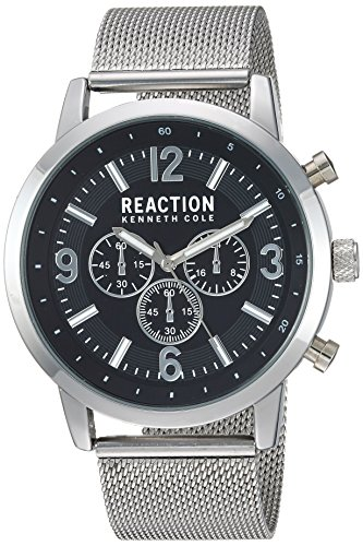 - Kenneth Cole Reaction Men's Japanese Quartz Metal Case Stainless Steel Strap Silver Casual,(Model:RKC0218001)
