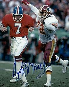 Dexter Manley Autographed Washington Redskins 8x10 Photo (vs Broncos)