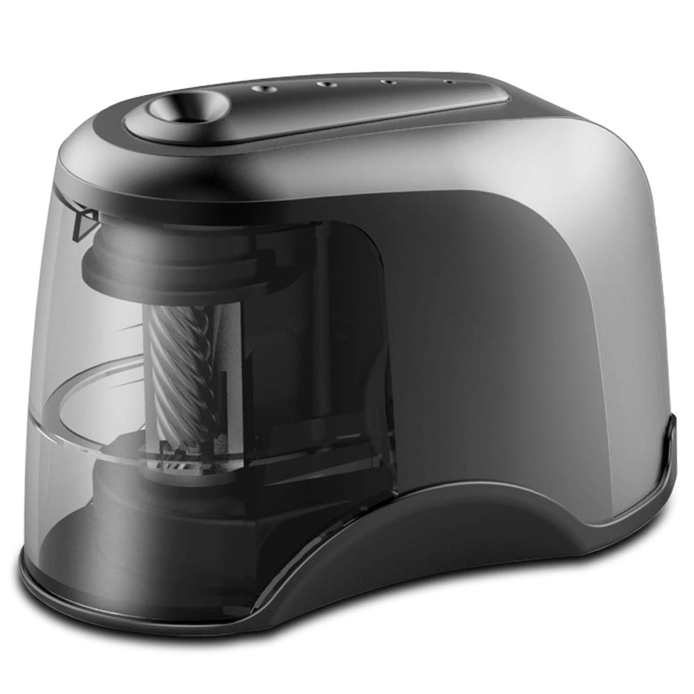 Electric Pencil Sharpener, Heavy-duty Helical Blade, USB or AC or 4 AA Batteries Operated, Perfect for Artist, Student, Supplies for Classroom/Office/Home, for 6.5-8mm diameter Pencils