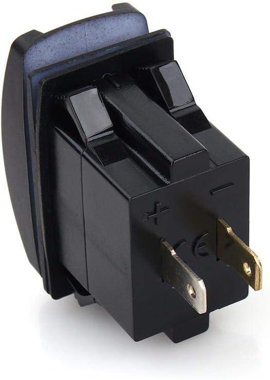 Voiture DC 12V-24V Bleu LED Double Chargeur USB Carling ARB interrupteurs /à Bascule 5V 3.1A Chargeur USB pour Moto