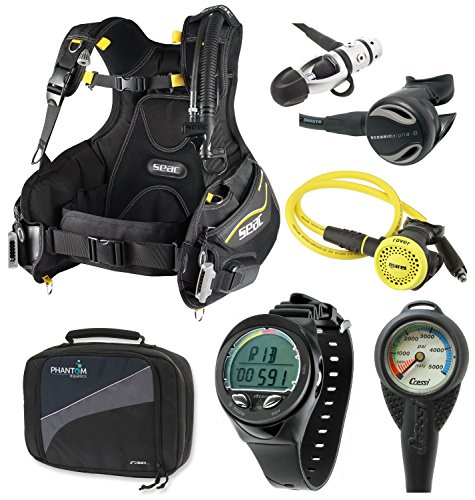 Oceanic Scuba Diving Gear Equipment Package, (bcd/computer/regulator/octo)