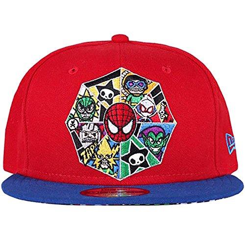 Tokidoki X Marvel Spidey Web Snapback Hat in Red