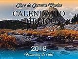 Calendario bíblico 2018 8.5x11 pulgadas ( 17x11 pulgadas abierto) con fotos de paisajes
