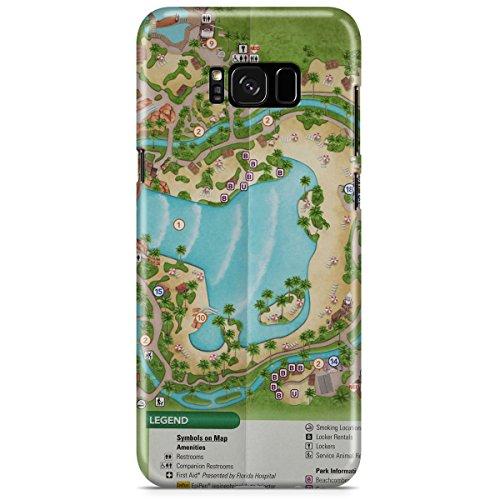 Queen of Cases Hard Shell Phone Case - Typhoon Lagoon - Map World Typhoon Lagoon Disney