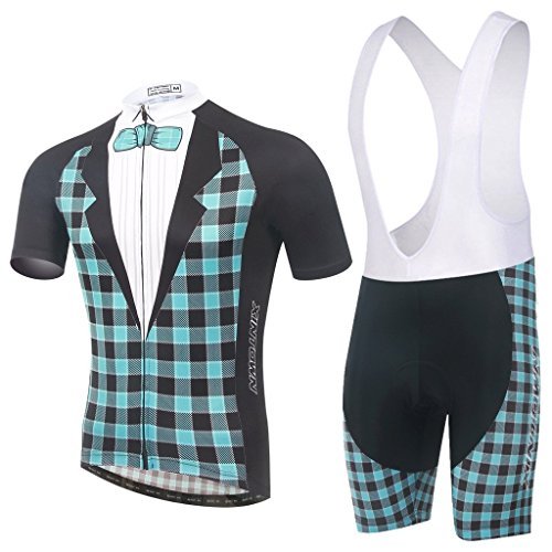 Xinzechen Cycling Jersey Bib Tights Set Short Sleeve 3D Padded Formal Dress Size XL