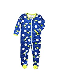 Silkberry Baby Printed Bamboo Footie with Easy Dressing Zipper (Boy & Unisex)