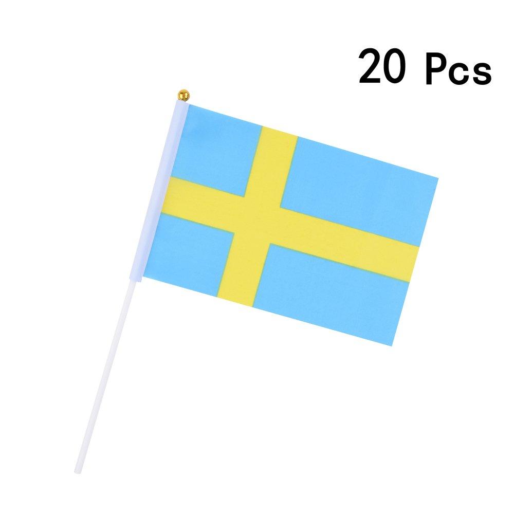 20 PCS Danemark Georgie Porgy Festivals nationaux de Drapeaux de Main de Football