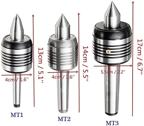 Lathe Cutting Tools Tipped Lathe Cutter Tool Set Live Center Morse Taper Lathe Tool 60 Degree MT2/MT3 for External Threading CNC Lathe Turning Tool (Size : MT2)