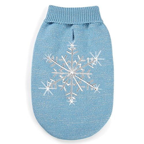 """Zack & Zoey Shimmer Night Snowflake Sweater for Dogs,16""""  Me"""