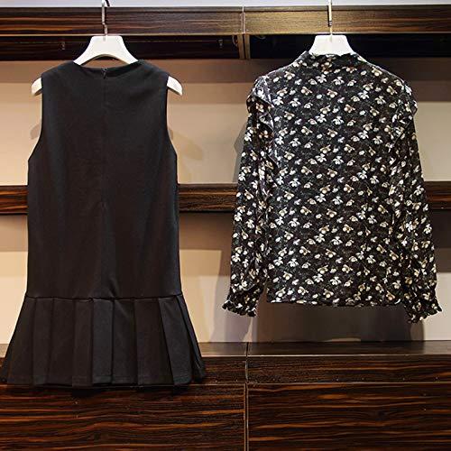 Camisa Tamaño Gran Piezas Gasa La Traje De Vestido Nuevo Dos Falda E Mujer Invierno Para Gmyanlyq Otoño qUOw7C