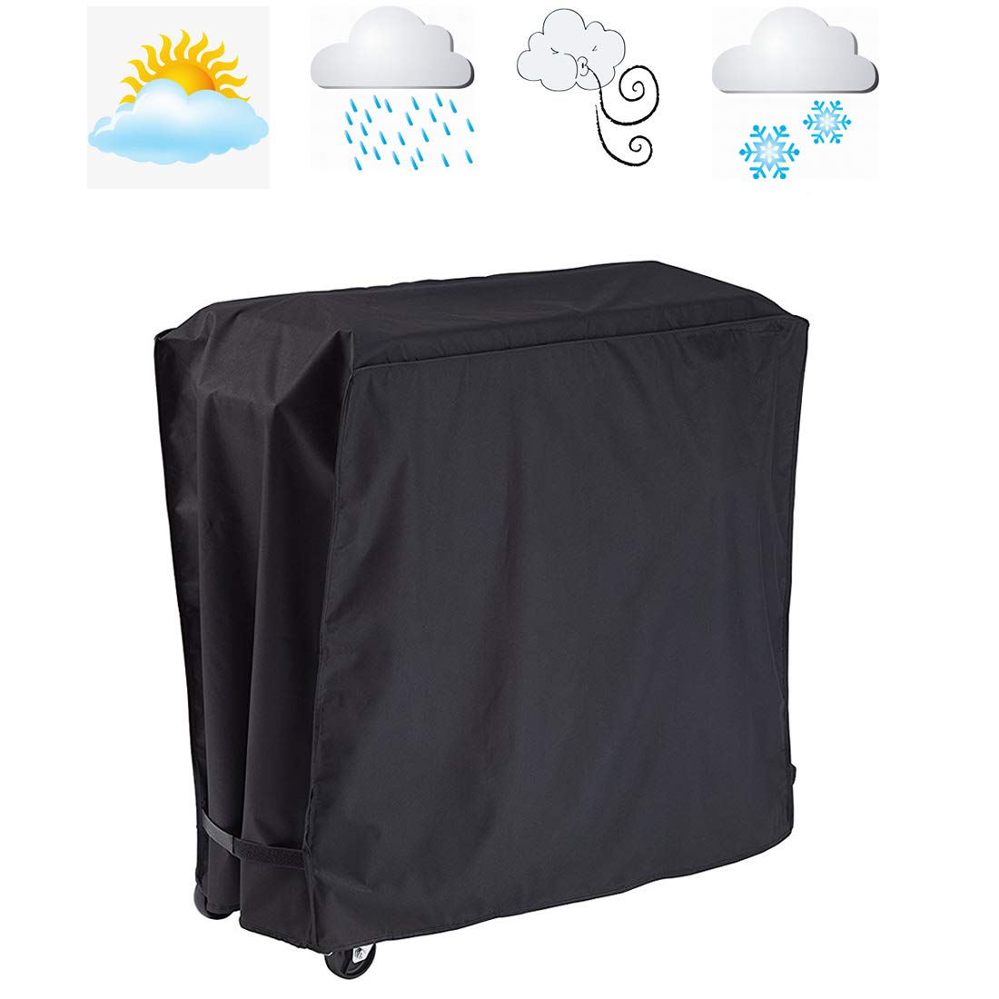 FLR Black Cooler Cover Universal Waterproof Durable Rolling Cooler Patio Cooler Cover Protection Outdoor Beverage Cart Rolling Ice Chest Party Cooler by FLR