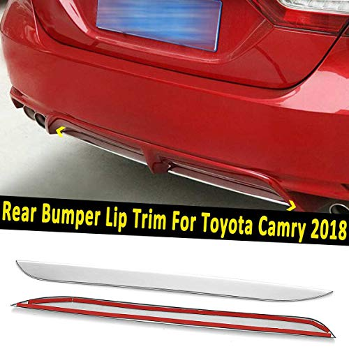 Carvicto - 2PCS Chrome Sliver Stainless Steel Rear Bumper Lip Cover Trim For Toyota Camry Decoration Stickers Exterior ()