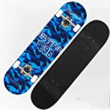 Beginner Children Boys Step Skateboard Adult Girls Street Travel Four Rounds Bilateral Tilt Skateboard (Color : Camouflage)