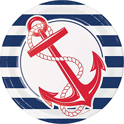 Nautical Anchor Paper Plates, 24 ct ()