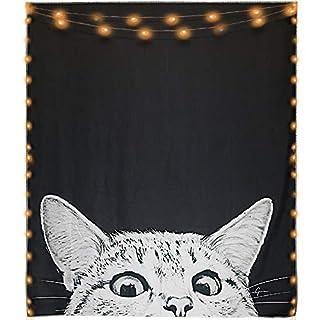 Mexidi Tapestry Wall Hangings Wall Blanket Art Dorm Shawl Beach Towel Throw Tapestry Decor Bedspread Bedroom Living Kids Girls Boys Room Dorm Accessories 51x59inchs (Cat)