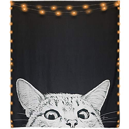 - Mexidi Tapestry Wall Hangings Wall Blanket Art Dorm Shawl Beach Towel Throw Tapestry Decor Bedspread Bedroom Living Kids Girls Boys Room Dorm Accessories 51x59inchs (Cat)