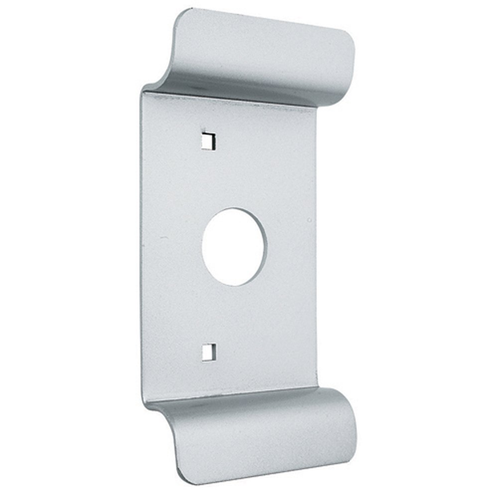 Global Door Controls Aluminum Pull with Cylinder Hole Exit Device Trim