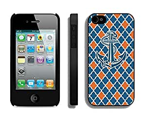 New Anchor Iphone 4 Colorful Design Case Black 4s Cover by icecream design