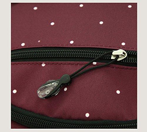 Bolso de la momia, bolso de hombro, bolso de la madre, paquete femenino de gran capacidad multifuncional, bolso de la madre de la manera, bolso del bebé de la madre ( Color : Azul oscuro ) Rojo oscuro
