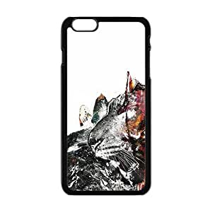 Abstract Wolf Black Phone Case for iPhone plus 6 Case