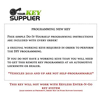 2008 2012 chrysler town country van new uncut keyless fobik key rh amazon ca Us Food Service Order Guide 2014 Corvette Order Guide