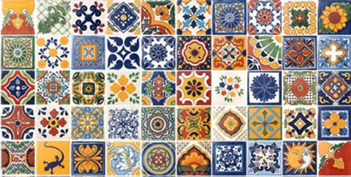 50 Hand Painted Talavera Mexican Tiles 4x4 Spanish ()