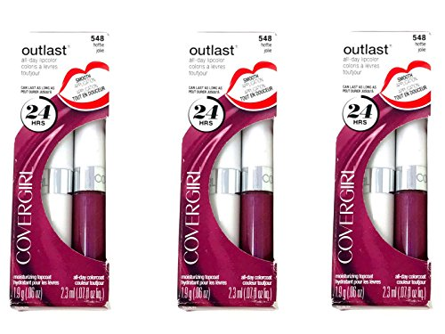 CoverGirl Outlast All Day Two Step Lipcolor, Hottie 548 3 Pack