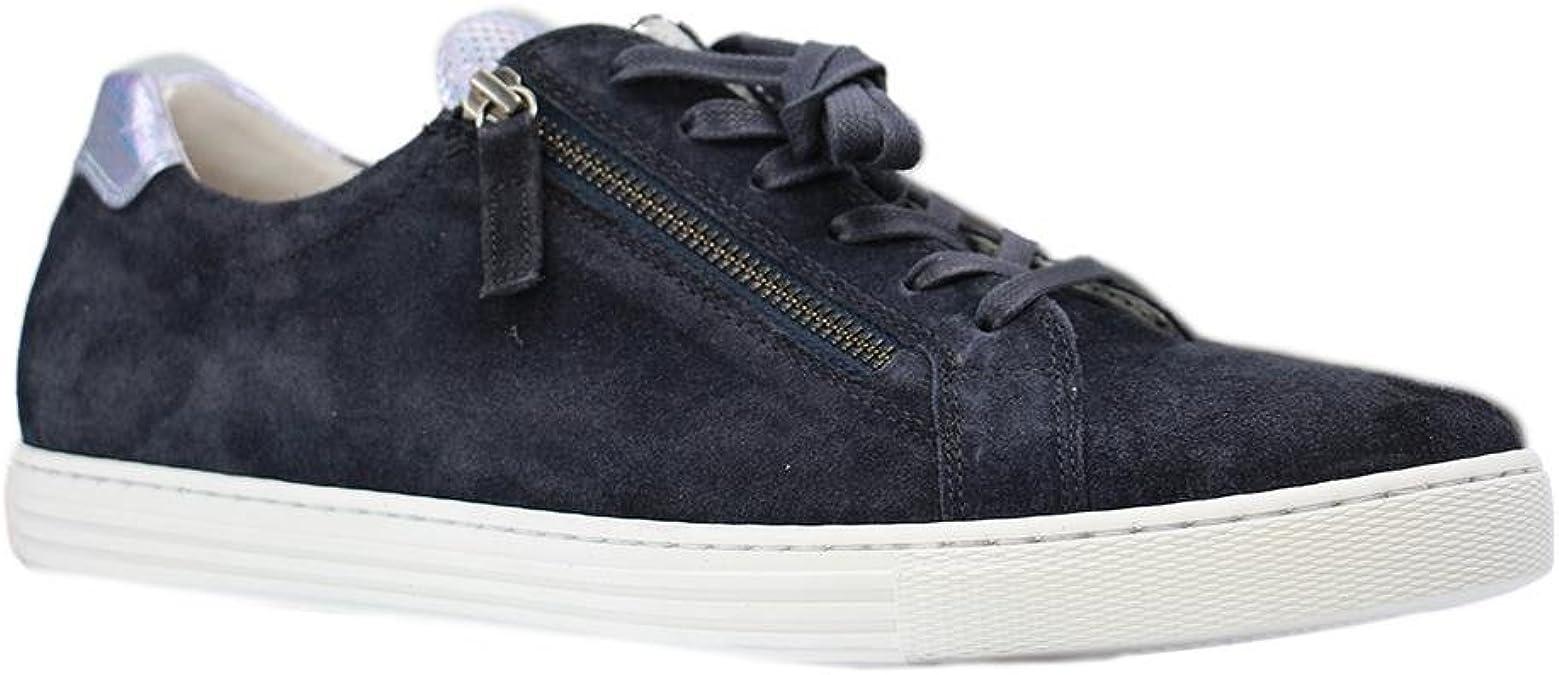 Gabor Comfort 66.488 Damen Sneaker Blau Schuhe in Übergrößen, Größe:43, Farben:Blau, Weite:G